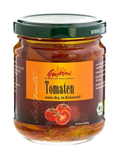 Gustoni Halbgetrocknete Tomaten in Kräuteröl (190 g) - Bio