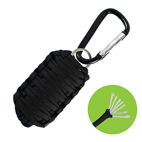 Paracord Survival Grenade Emergency Keychain Survival Kit - 7 Strand 550 Paracord, Flint Fire Starter, Carabiner, Blade and Fishing Tools for EDC Every Day Carry Key Chain Survival Gear by Frog & Co.