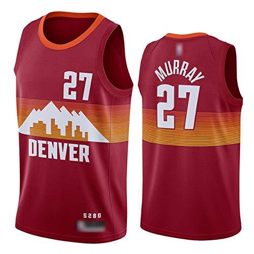 XGMJ Jamal Murray New Basketball Jersey, temporada 2021 Denver Nuggets 27# - Camiseta deportiva para hombre, unisex, secado rápido, transpirable, ropa deportiva roja-S