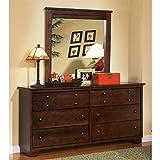 Progressive Furniture Diego Dresser and Mirror, Espresso Pine