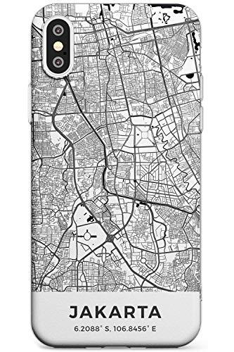 Case Warehouse Karte Von Jakarta, Indonesien Schlank Handykette Hülle für iPhone XR | Clear Silikon TPU Schutz Leicht Ultra dünn Hülle Muster Printed | Reise Fernweh Europa Stadt Streets
