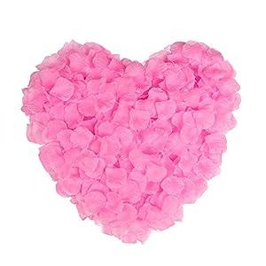 Naler 2000 Piezas de Flores Artificiales de Seda pétalos de Rosa para Navidad, Flores de Boda, Confeti, Tabla de dispersión Rosadas