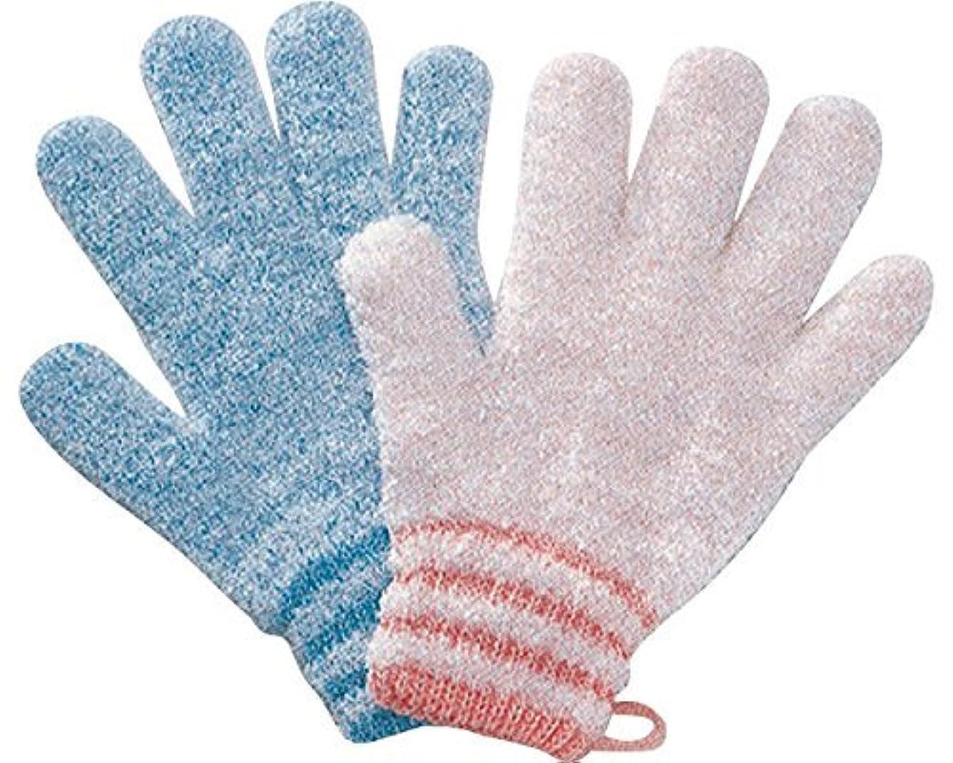 ケント産地アルミニウム浴用手袋やさしい手 1双入り ピンク 1160A (オカモト) (入浴用小物)