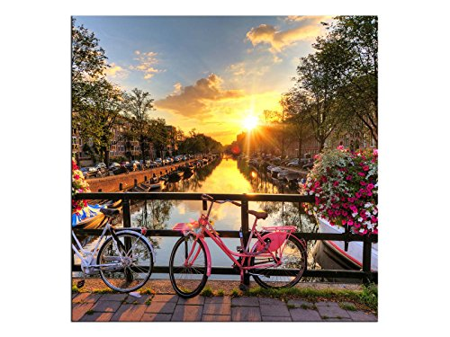 kunst-discounter A06182 - Tela Stampata su Telaio, Motivo: Amsterdam Gracht