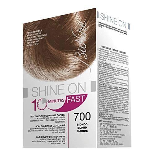 BioNike Shine On Fast Trattamento Colorante Capelli (Tono Biondo 700) - 1 flacone x 60 ml. + 1 tubo x 60 ml. (Totale 120 ml.)