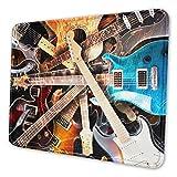 Alfombrilla de ratón Bonita, Lightning Around Guitarra eléctrica 8,3 X 10,3 Pulgadas Alfombrilla de ratón Duradera de Goma Antideslizante Escritorio Más tamaños para la Escuela de Oficina en casa
