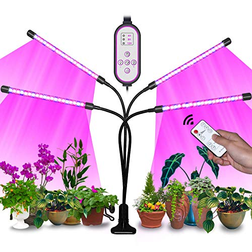 Sunrich Grow Light for Indoor Plant 80W Full Spectrum Led Growing Lamps with Remote Control, On/Off 4/8/12H Timer, 10 Dimmable Levels for Indoor Succulent Plants Growth