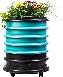 WormBox : Wurmkomposter Wurmfarm mit 4 Schalen Türkis + Pflanzgefäß - 72 Liter