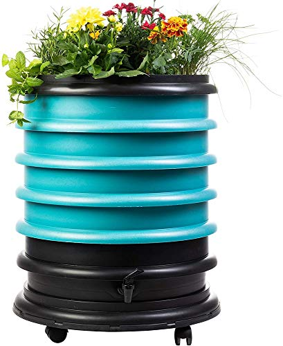 Best Price WormBox WB41TU Wormery Composter 4 Turquoise Plus Planter-72 litres, 4 Trays + Planter