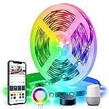 Tasmor Tiras Led Música Dreamcolor, Tira Led 5M WiFi, 12V 150 Leds, Sync con Música, Control de Móvil, Alexa y Google Home, Brillo Ajustable, Luces Led para Decoración Habitación, Fiesta
