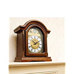 Radio Controlled Westminster Chime Arch Mantle Clock Mahogany ONE