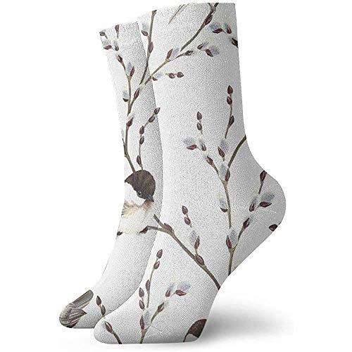 winterwang Calcetines de compresin Willow Branches Birds Blackcapped Vintage Leaf Classics