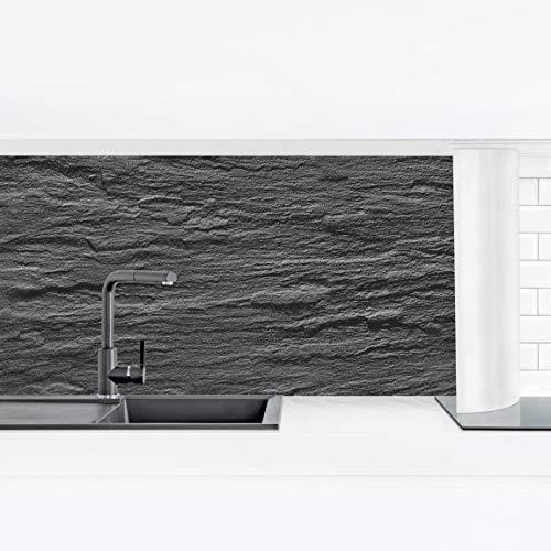 Bilderwelten Küchenrückwand Panorama Folie selbstklebend für Arbeitsplatte Wandklebefolie Stein Natur Optik - Schiefer Smart 40 x 140 cm