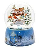 Minium Collection 20066os - Bola de nieve (base de porcelana, 150 mm de diámetro, musical), diseño de paisaje nevado