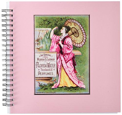 3dRose DB 153657_ 2Die echte Murray und Lanman Florida Wasser Parfums Asiatische Frau mit Sonnenschirm Memory Book, 12von 12Zoll