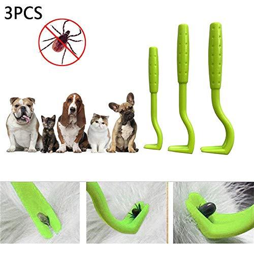 PER Zeckenentfernungs Werkzeugset, Twister Set in verschiedenen Größen zum einfachen Entfernen von Zecken und Flöhen, Zeckenentfernungs Twister Werkzeug für Hunde, Katzen und Menschen