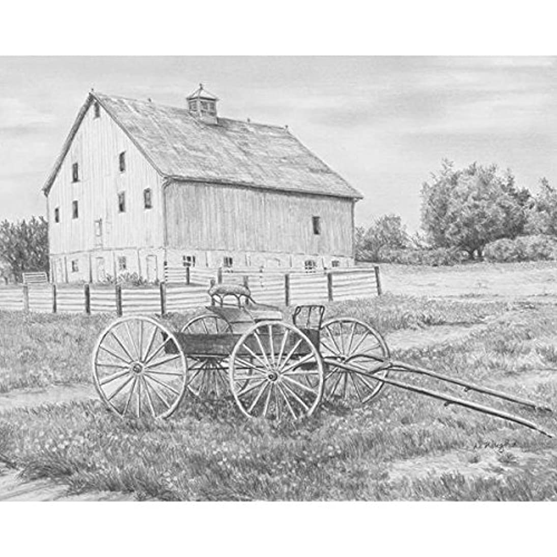 ROYAL BRUSH Sketching Made Easy Kit, 9 by 12-Inch, Country Wagon