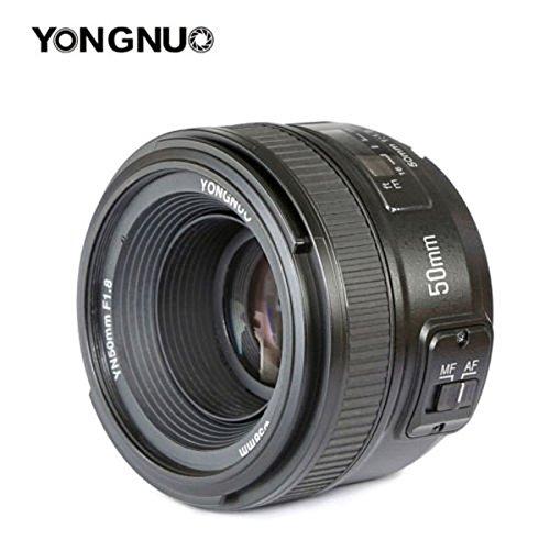 YONGNUO YN, Standard-Objektiv mit Brennweite für Nikon D7100, D5500, D810a, D800; 50 mm, F1.8N, AF/MF