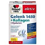 Doppelherz Gelenk 1450 + Kollagen + Hyaluron – Vitamin K und Vitamin D als Beitrag zum Erhalt normaler Knochen – 1 x 100 Kapseln