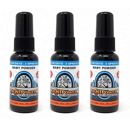 BluntPower 1 Ounce Bottle Oil Based Concentrated Air Freshener Oil for Burner, Baby Powder (Pack of 3) Blunt Power