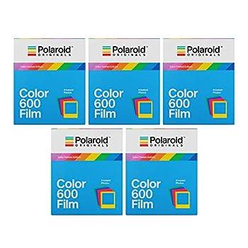 Polaroid Originals Color Frames Edition Instant Film for 600 Cameras Bundle  40 Exposures   3216573518