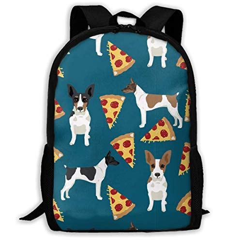 Homebe Rucksäcke,Daypack,Schulrucksack Rat Terrier Dog Simple Pattern Adult Travel Backpack School Casual Daypack Oxford Outdoor Laptop Bag College Computer Shoulder Bags 11x17x6.3 Inch.