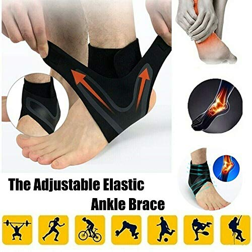 Raining 1 Pair Walk-Hero The Adjustable Breathable Elastic Ankle Brace,Anti-Sprain Ankle Support Brace Compression Sleeve Guard for Sports Basketball Soccer (S)