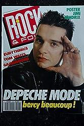 ROCK & FOLK 247 1987 COVER DAVE GAHAN DEPECHE MODE EURYTHMICS TOM WAITS GAINSBOURG JIMI HENDRIX POSTER