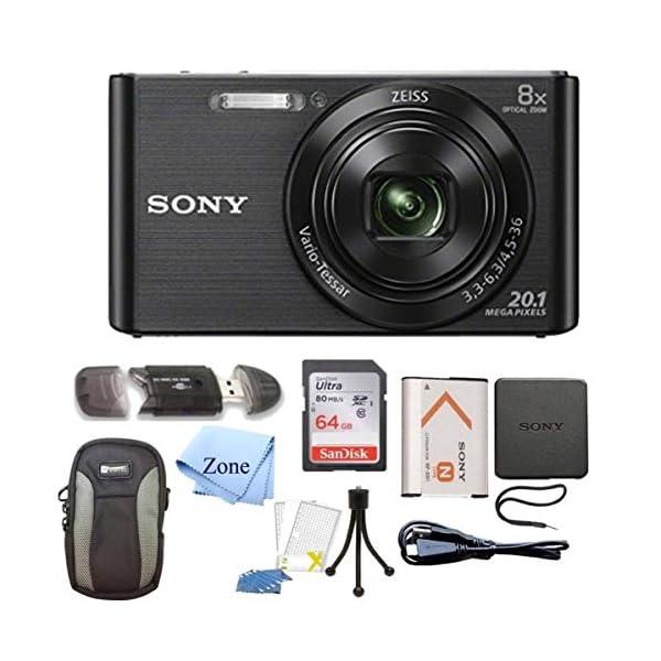 Sony DSC-W830 Cyber-Shot 20.1MP Digital Camera + 64GB Memory Card & Accessory...