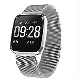 ZIHUINI smart Watch Heart Rate Fitness Watch Digital Fashion Smart Watch Women Men Steel Mesh Strap...