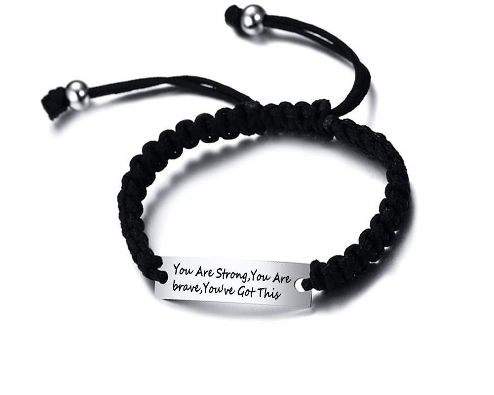 MEALGUET Stainless Inspirational Motivational Bracelet
