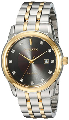 Citizen Men's Eco-Drive Diamond Accented Watch with Date, BM7344-54E