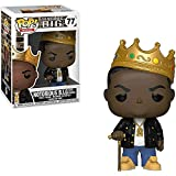 Jokoy Funko Pop Rocks : The Notorious B.I.G. with Crown 3.75inch Vinyl Gift for Rap Fans Chibi