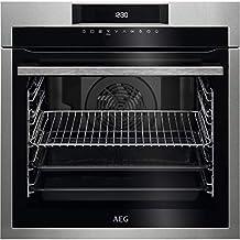 AEG BEE641222M - Horno eléctrico empotrable, capacidad 72 l, multifunción ventilado, potencia 2480 W, color acero inoxidable