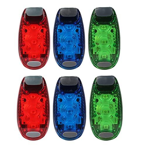 MMZB Luces de navegación para Barco de 6pcs, 3 Modos Kayak Boat Lights Bow y Stern, Luz de navegación de Alta Visibilidad de la Noche para Pontoon, Yate, Cola de Bicicletas, Corredor