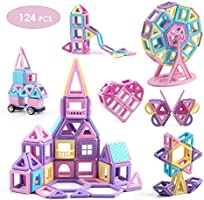Mini castle magnetic building blocks