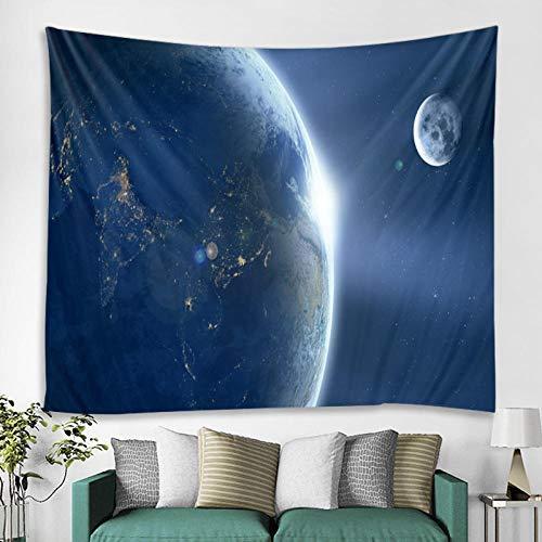 AdoDecor Tapiz Galaxia Espacio Nubes Arte Agujero Negro Colgante de Pared Estrella Nebulosa tapices de Pared 150x200 cm/79 * 59 Pulgadas