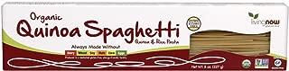 NOW Foods, Organic Quinoa Spaghetti, Gluten-Free, Corn-Free, Non-GMO, Quinoa and Rice Pasta, 8-Ounce