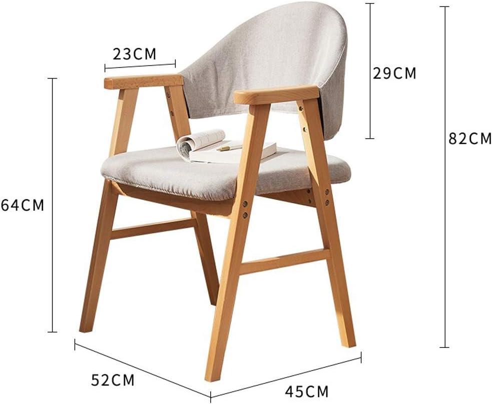 SLL- Chaise de Salle, Chaise de Bureau Simple, créative Dossier, Chaise Loisirs, Maison Adulte Chaise de Salle Moderne (Color : Light Grey) Light Grey
