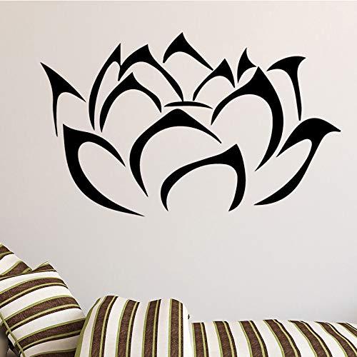Buddha Lotus Blumen Wandaufkleber für Wohnzimmer Home Decoration Abnehmbare Abziehbilder Diy Art Home Decoration Gold L 43cm X 26cm