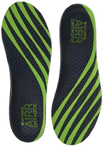 Sof Sole Men's AIRR Orthotic Support Full-Length Insole, Green, 11-12.5