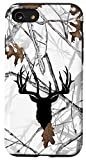 iPhone SE (2020) / 7 / 8 Deer Hunting Black White Snow Tree Camo Camouflage Case