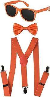 Kids Neon Suspender, Bow-tie Accessory Set
