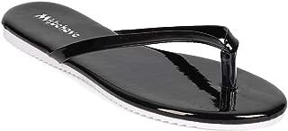 Women Patent Leatherette Thong Sandal EH28