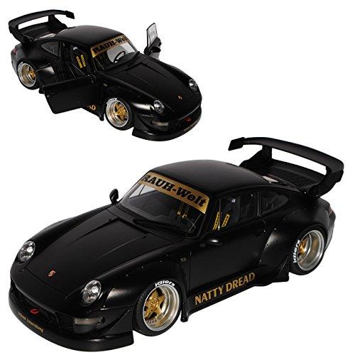 AUTOart Porsche 911 993 Carrera Coupe RWB Coupe Matt Schwarz Rauh-Welt 1993-1998 78154 1/18 Modell Auto
