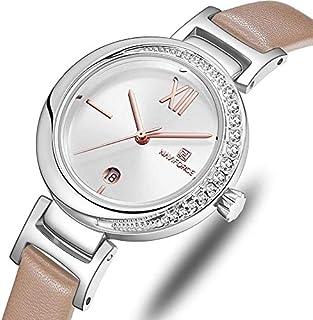 ساعة نافي فورس للنساء كاجوال بسوار جلدي