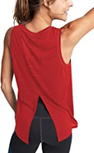 Mippo Women's Cute Workout Tank Tops Mesh Yoga Tops Open Back Exercise Gym Shirts