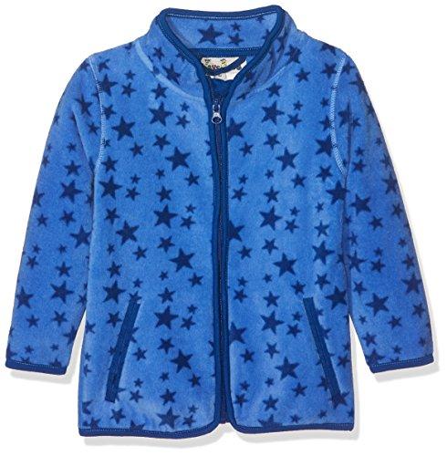 Playshoes Baby-Mädchen Fleecejacke Sterne Jacke, (Blau 7), 104