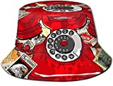 BONRI Sombrero de Cubo con Estampado de Flores de Hielo, Gorra de Pesca para Pescador, para Viajes de Mujer