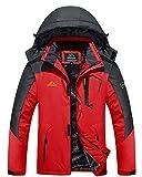 MAGCOMSEN Manteau d'hiver pour homme avec capuche - Veste de ski pour homme - Veste de randonnée épaisse - Coupe-vent - Veste de travail pour homme